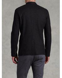 John Varvatos - Black Felted Wool Zip Blazer for Men - Lyst