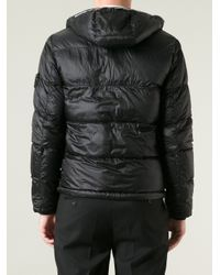 Stone Island - Blue Padded Hooded Jacket for Men - Lyst