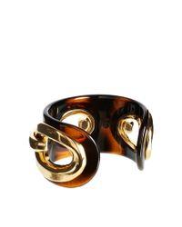 Karen Millen | Brown Tortoise Acrylic Chain Cuff | Lyst
