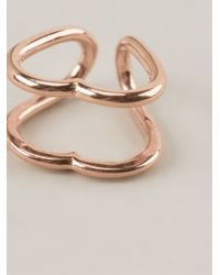 Coops London | Metallic Heart Shaped Squeeze On Earrings | Lyst