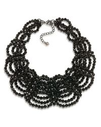 Carolee | Black Flower District Jet Beaded Collar Necklace | Lyst