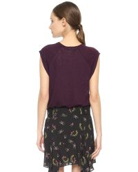 A.L.C. | Purple Montoya Top - Black | Lyst