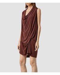 AllSaints | Purple Amei Sleeveless Dress | Lyst