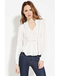 Forever 21 | White Contemporary Embroidered Top | Lyst