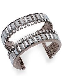 INC International Concepts | Brown Crystal Open Cuff Bracelet | Lyst