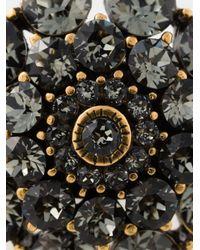 Oscar de la Renta - Gray Large Crystal Ring - Lyst