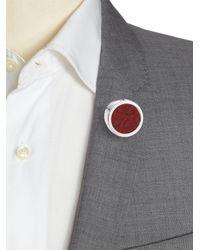 Hook + Albert | Multicolor Leather Lapel Pin | Lyst
