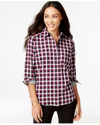 G.H. Bass & Co. | Purple Plaid Button-down Shirt | Lyst