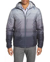 Original Penguin | Gray Stripe Windbreaker for Men | Lyst