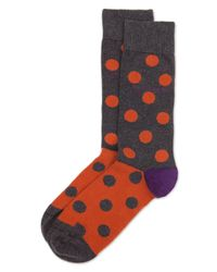 Ted Baker - Gray Spherie Spot Color Block Socks for Men - Lyst