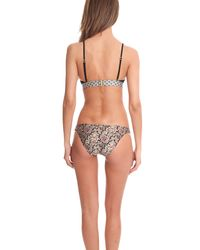 Zimmermann - Natural Nightmarch Piped Tri Bikini Top - Lyst