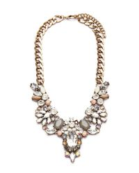Forever 21 - Metallic Clustered Faux Gem Statement Necklace - Lyst