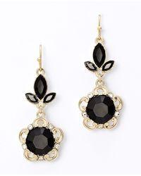 Ann Taylor - Metallic Baroque Crystal Drop Earrings - Lyst