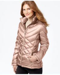 Calvin Klein - Pink Quilted Packable Down Puffer Coat - Lyst