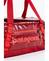 Patagonia | Red Black Hole 45l Duffel Bag for Men | Lyst
