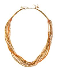 Nakamol - Metallic Crystal & Agate Multi-strand Necklace - Lyst