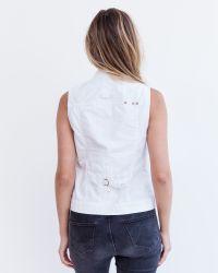 Marrakech | White Brea Mini Vest | Lyst