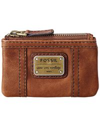 Fossil | Brown Coin Emory Leather Zip | Lyst