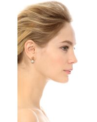 Tory Burch - Metallic Evie Drop Earrings - Ivory/shiny Gold - Lyst