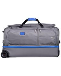 "Tumi | Gray Alpha 2 30"" Rolling Drop Bottom Duffel for Men 