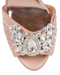 Badgley Mischka | Natural Scarlett Satin Embellished Evening Shoe | Lyst