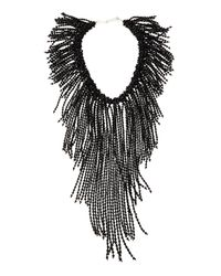 Nakamol | Black Crystal Fringe Statement Necklace | Lyst