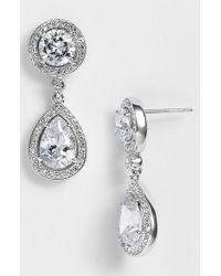 Nadri   Metallic Crystal & Cubic Zirconia Drop Earrings (nordstrom Exclusive)   Lyst