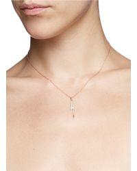 Khai Khai - Pink 'the Zeus' Diamond Pendant Necklace - Lyst