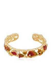 Les Nereides | Metallic Feuilles D'automne Bracelet | Lyst