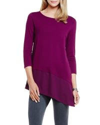 Vince Camuto | Purple Asymmetric Knitted Top | Lyst