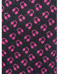 Au Jour Le Jour - Pink Earphones Print Mini Skirt - Lyst