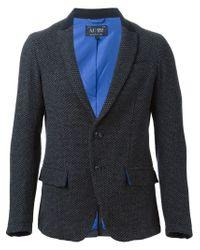 Armani Jeans - Gray Notched Lapel Blazer for Men - Lyst