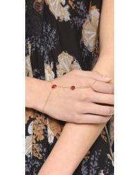 Jacquie Aiche | Metallic Ja Cz + Crystal Finger Bracelet | Lyst