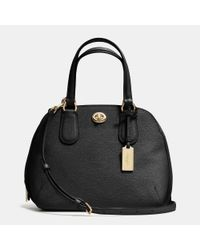 COACH | Black Prince Street Mini Satchel In Crossgrain Leather | Lyst
