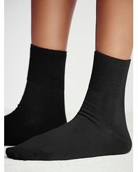 Free People - Black Legale Womens West Street Ankle Sock - Lyst