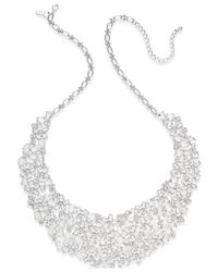 kate spade new york | Metallic Silver-tone Crystal Statement Necklace | Lyst