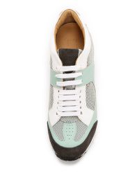 MM6 by Maison Martin Margiela - Gray Jogging Sneakers - Grey/Azure/White/Asphalt Grey - Lyst