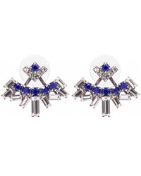 DANNIJO - Blue Silver-plated Dawson Swarovski Crystal Earrings - Lyst
