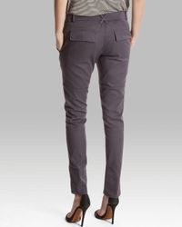 Halston - Gray Pants Tapered Cargo - Lyst
