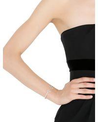 Elise Dray - White Twin Cross Bracelet - Lyst