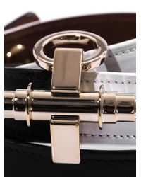 Givenchy - Black Bicolour Leather Obsedia Cuff - Lyst