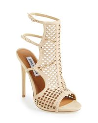 Steve Madden | Natural 'Maylin' Cage Sandal | Lyst