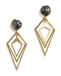 Sarah Magid | Metallic Pointilist Orbital Earrings, Hematite | Lyst