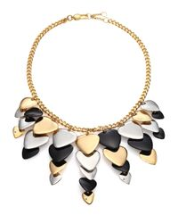 Marc By Marc Jacobs | Metallic Beat It Plectrum Statement Bib Necklace | Lyst