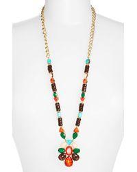 kate spade new york - Multicolor 'fine Art' Pendant Necklace - Multi/ Red/ Gold - Lyst