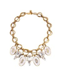 Lulu Frost | Metallic *new* Mosaic Deco Statement Necklace | Lyst