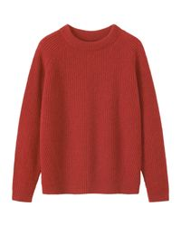 Toast | Red Ribbed Wool Sweater | Lyst