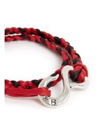 Giles & Brother - Red Brass Nut Braided Cotton Lacing Bracelet for Men - Lyst