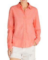 J Brand - Pink Venice Blouse - Lyst