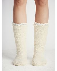 Free People - White Lemons Womens Lodge Slipper Sock - Lyst